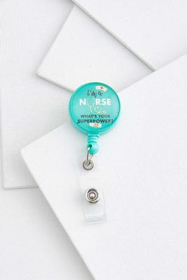 super nurse badge reel