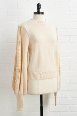beige turner sweater