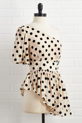 a polka dot party top
