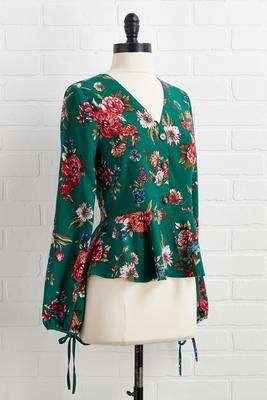 floral fields peplum top