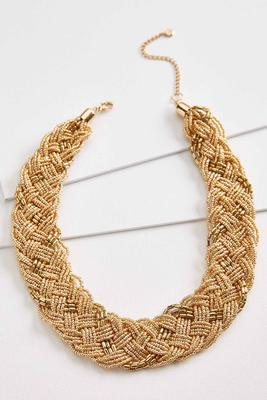 braided bib necklace