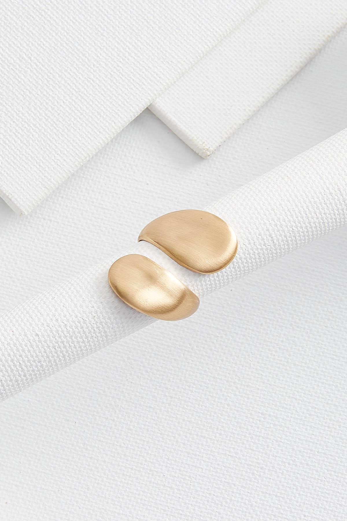 Brushed Gold Wrap Ring