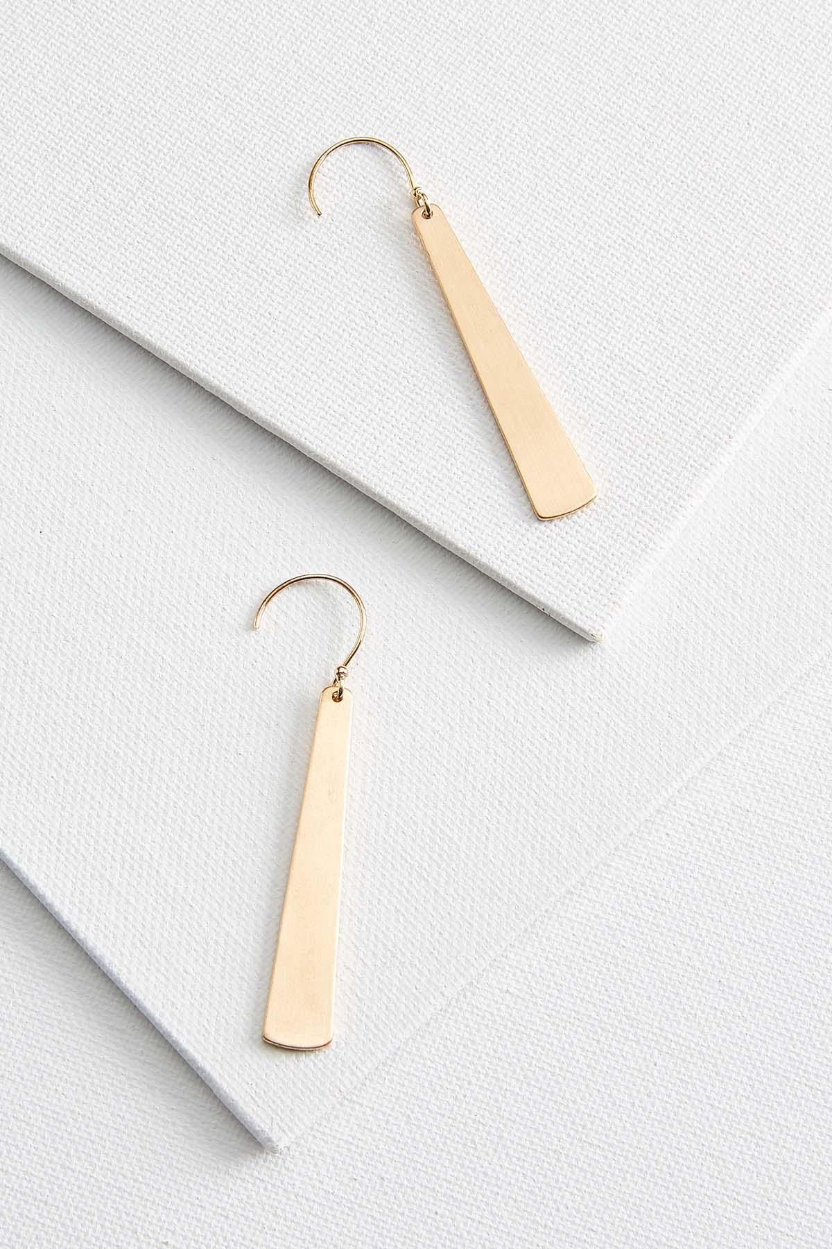 Brush Gold Paddle Earrings