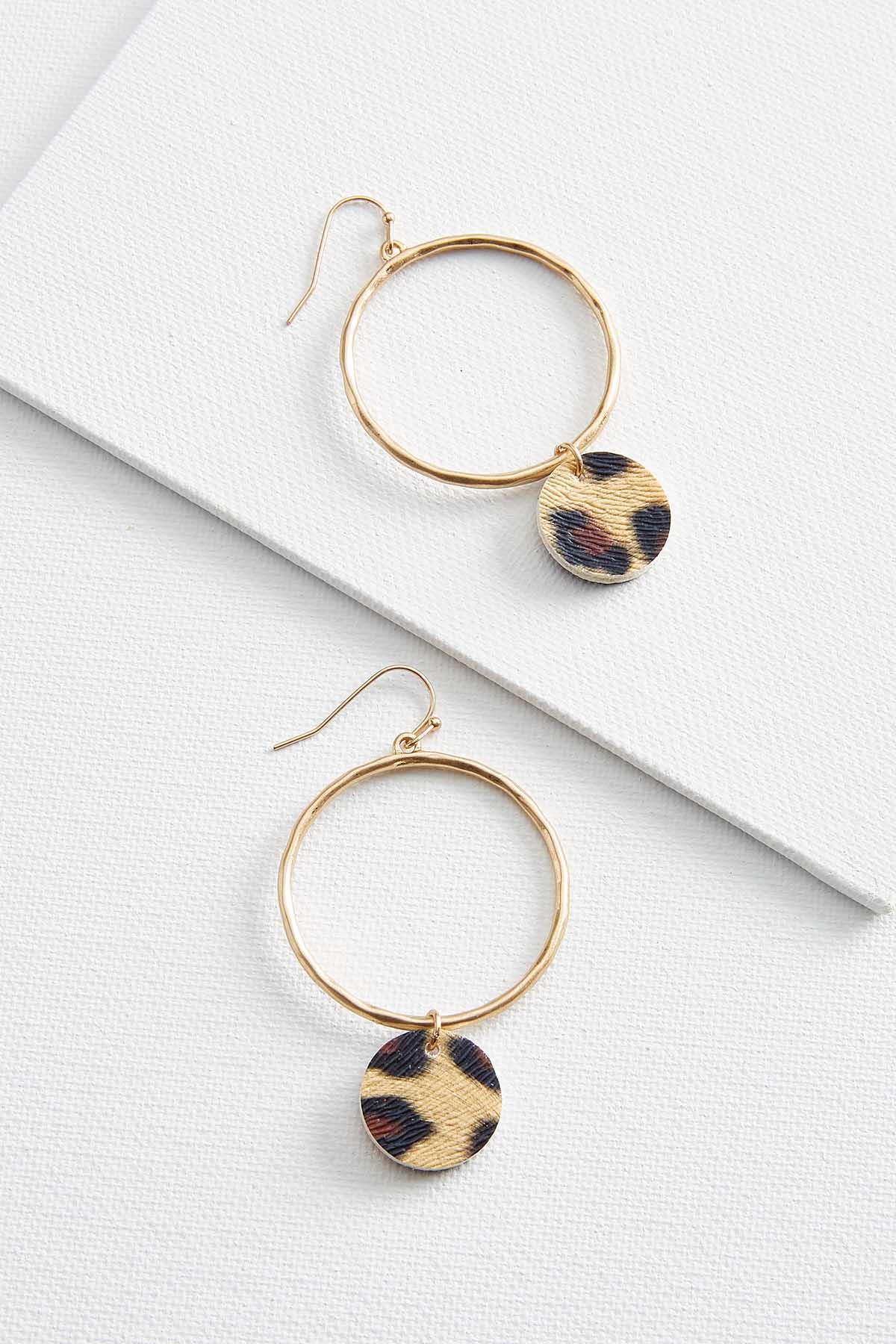Dangle Fuzzy Leopard Earrings