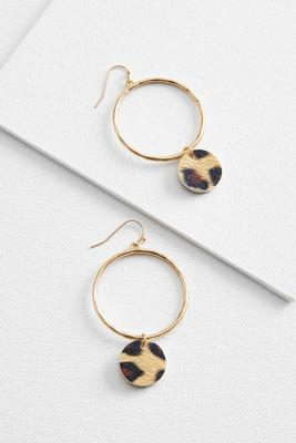 dangle fuzzy leopard earrings