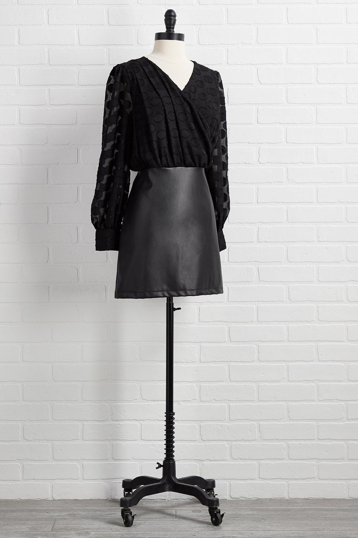 Dot Your Average Black Dress