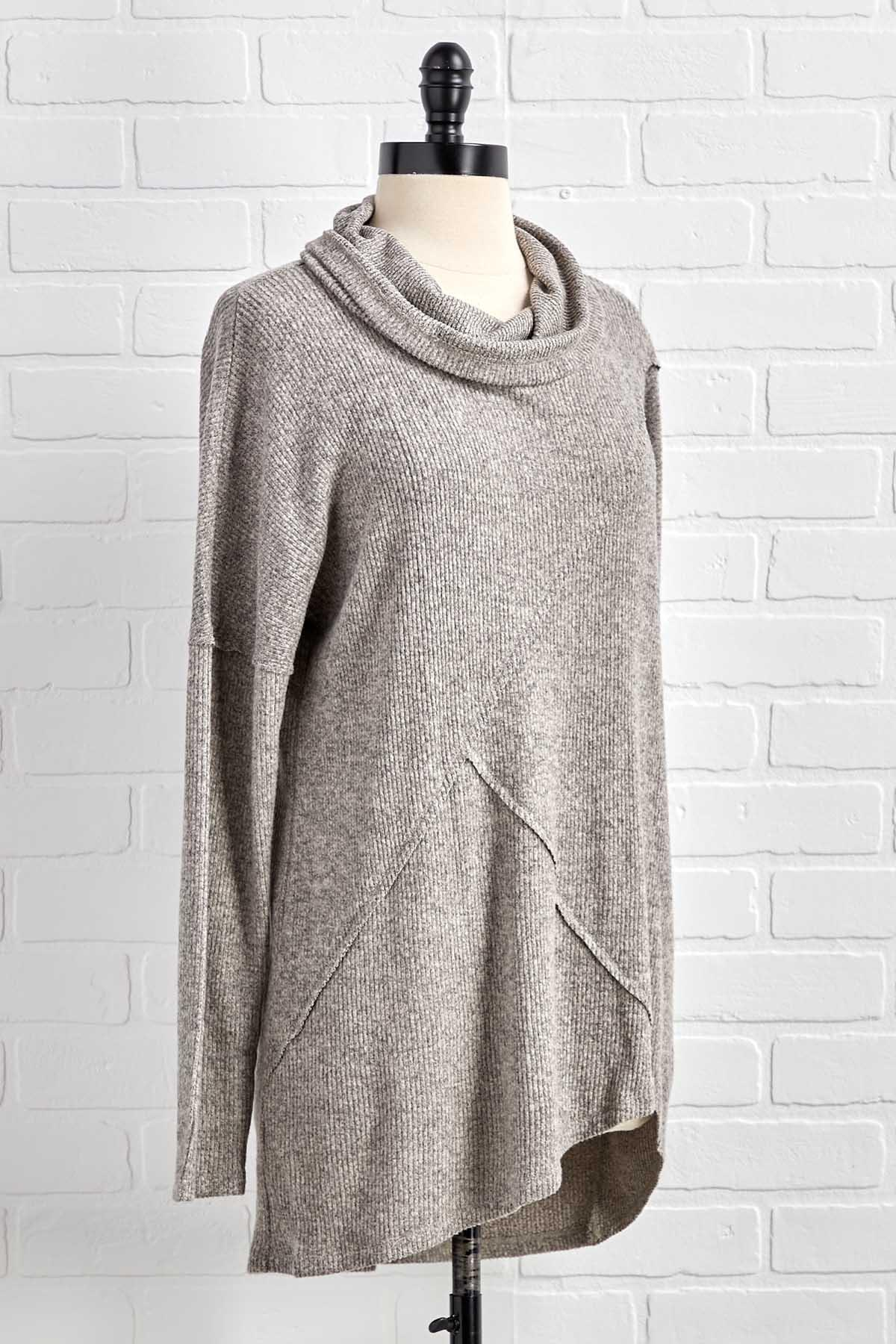 Cowl Me Back Sweater