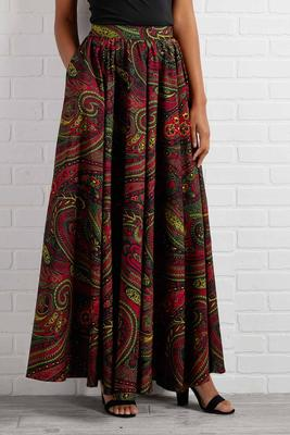 festive paisley maxi skirt