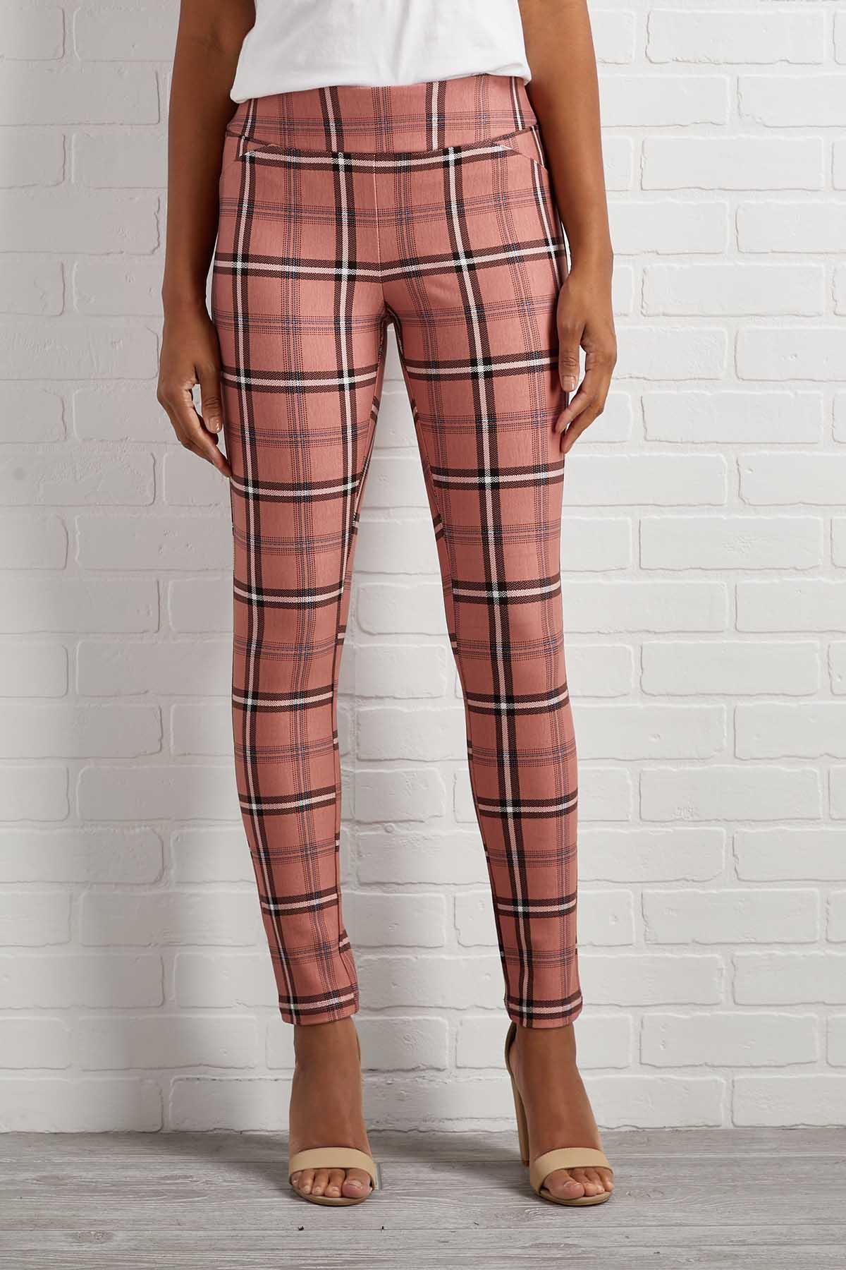 Pretty In Pink Plaid Pants