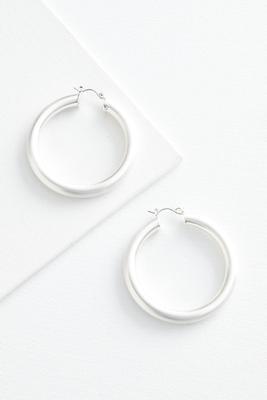 chunky metal hoop earrings