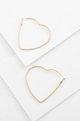 oversized heart earrings
