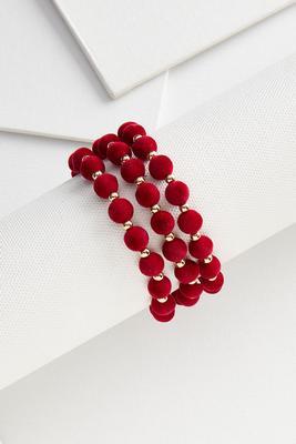 felt beaded bracelet set