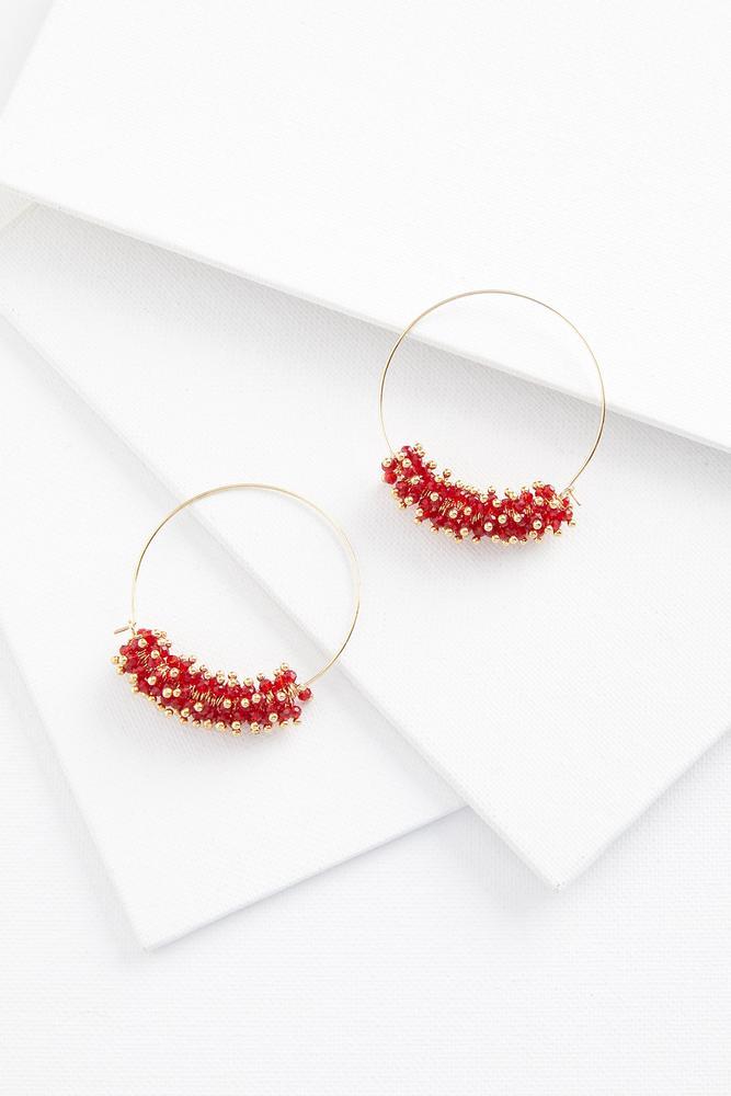 Colorful Semi Beaded Earrings
