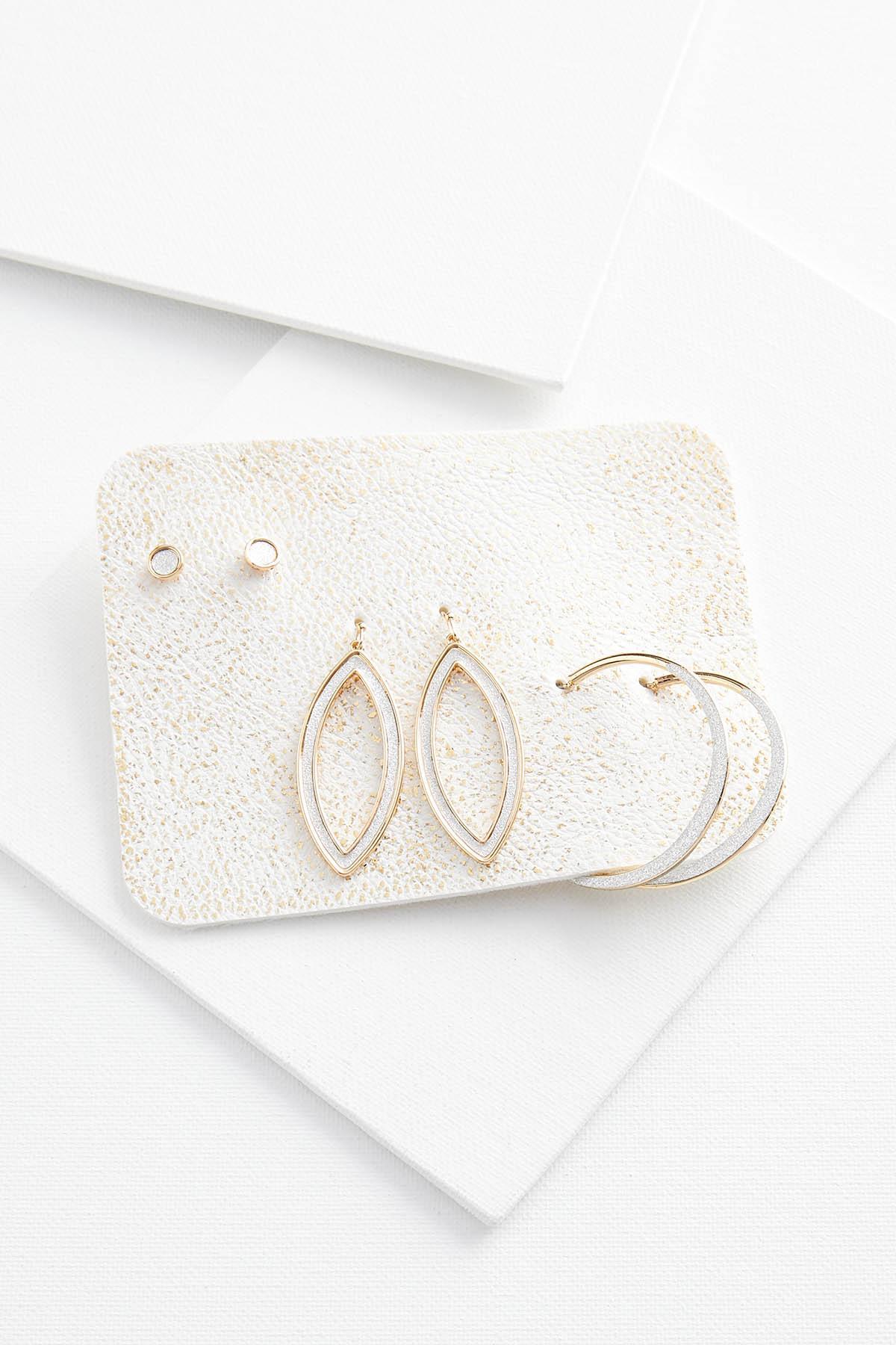 Glitter N Gold Earring Set