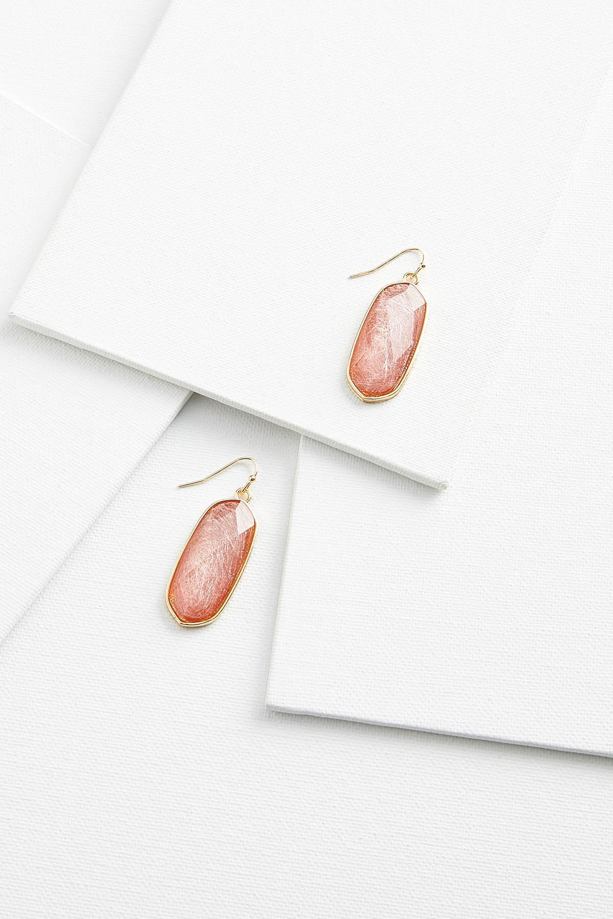 Crackle Gem Earrings