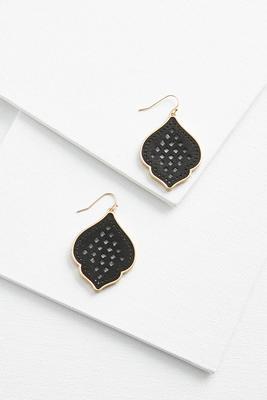 leather filigree earrings