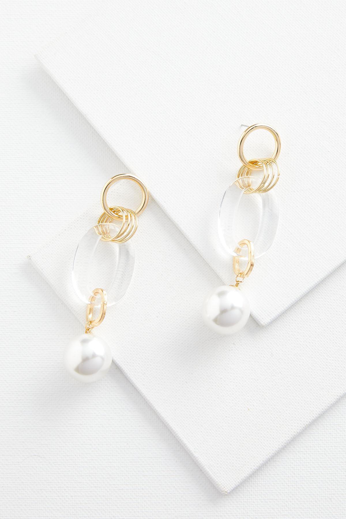 Pearl And Resin Earrings