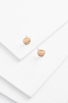 wavy stud earrings