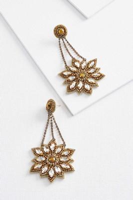 fancy floral earrings
