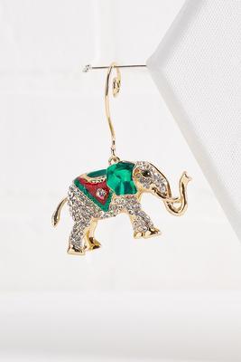glitzy elephant ornament