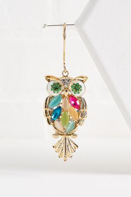 glitzy owl ornament