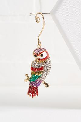 glitzy parrot ornament