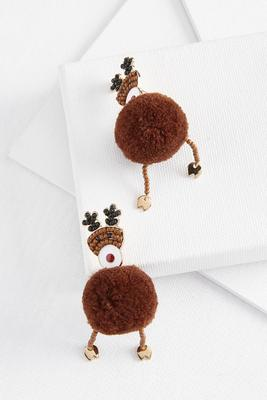 dancing reindeer earrings