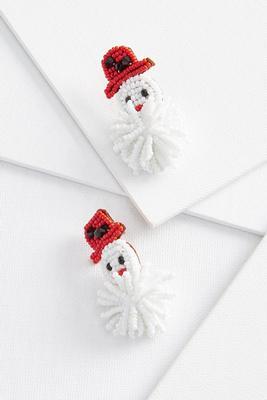 silly snowman earrings