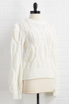 pearl power sweater