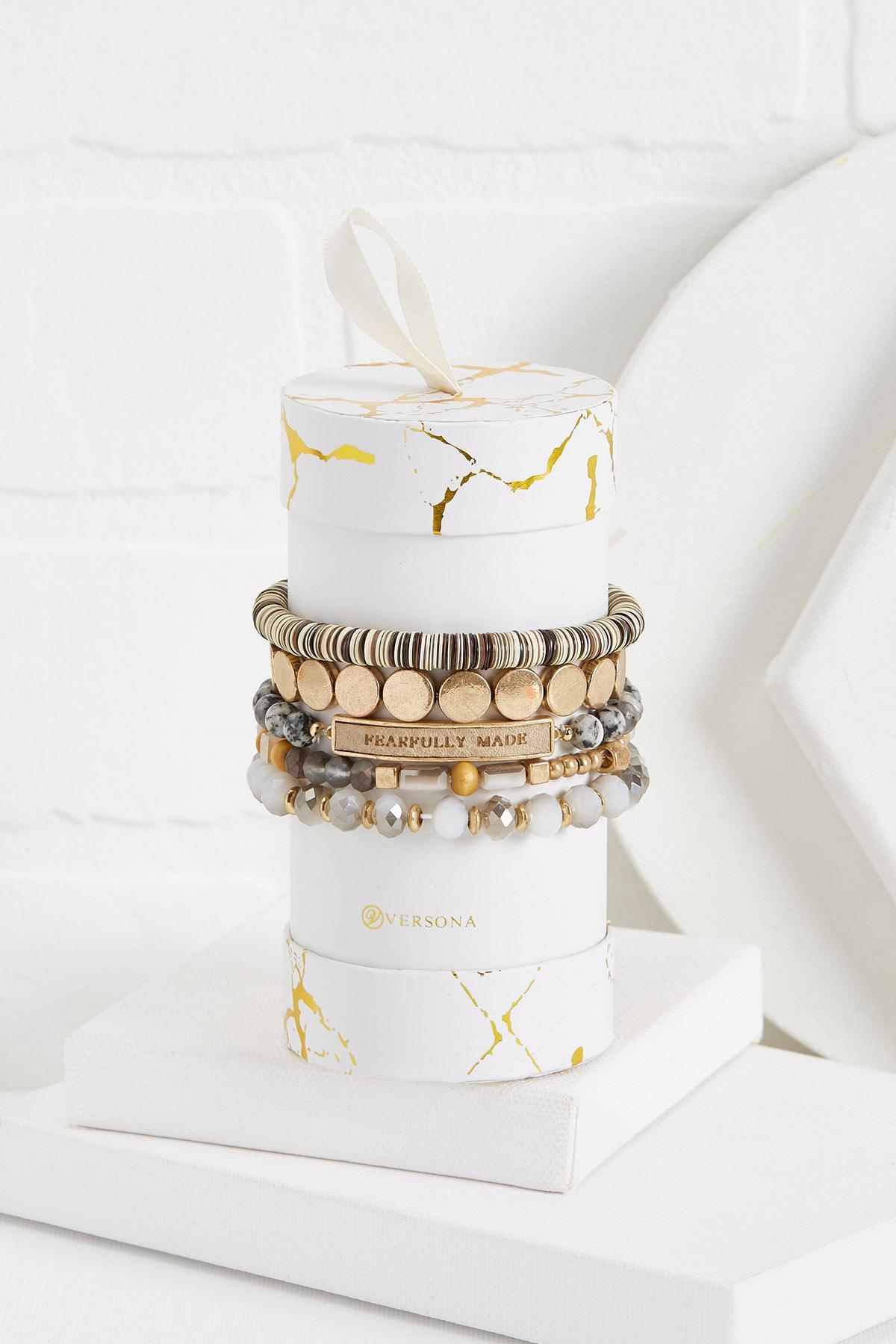 Semi- Precious Inspirational Bracelet Set
