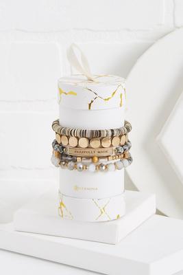 semi-precious inspirational bracelet set