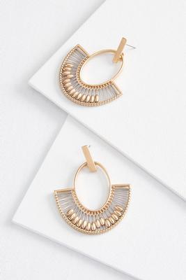 bead and thread earrings