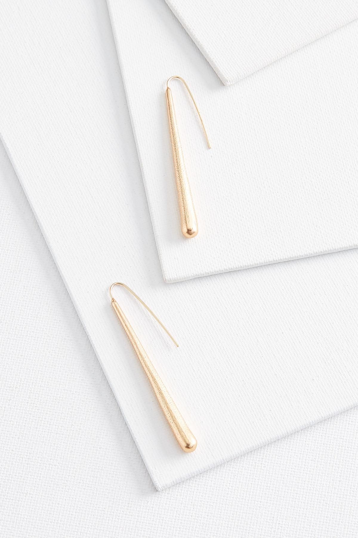 Gold Linear Earrings