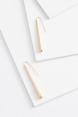 gold linear earrings
