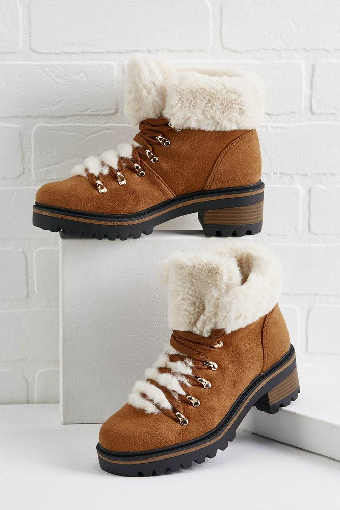 Fur Cuff Hiking Boots