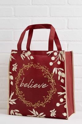 believe reusable tote
