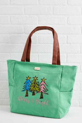 merry and bright tote bag