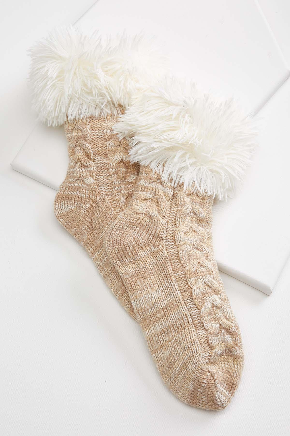Cue Cozy Slipper Socks