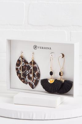 leopard earring gift set