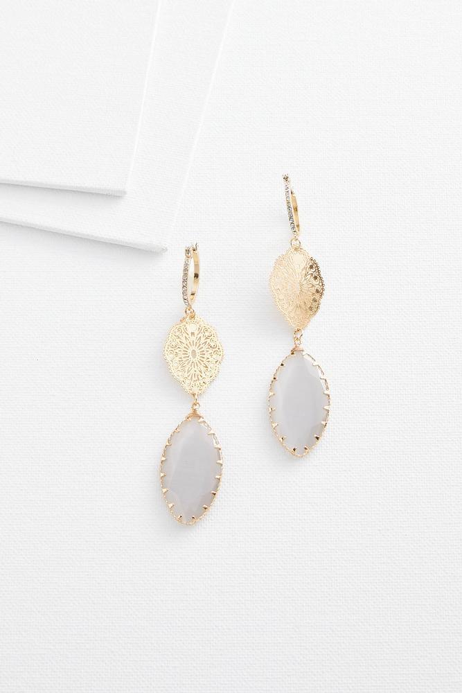 Linear Cateye Earrings
