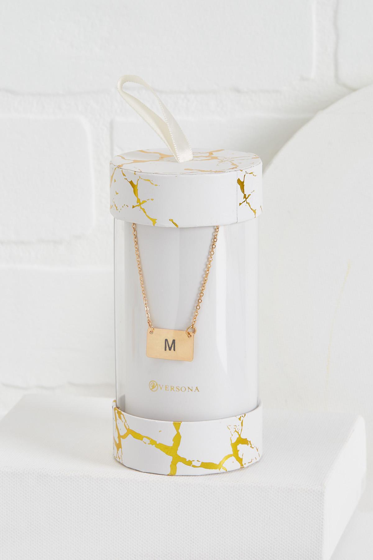 M Initial Pendant Necklace