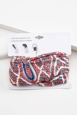 pretty paisley multi function head wrap