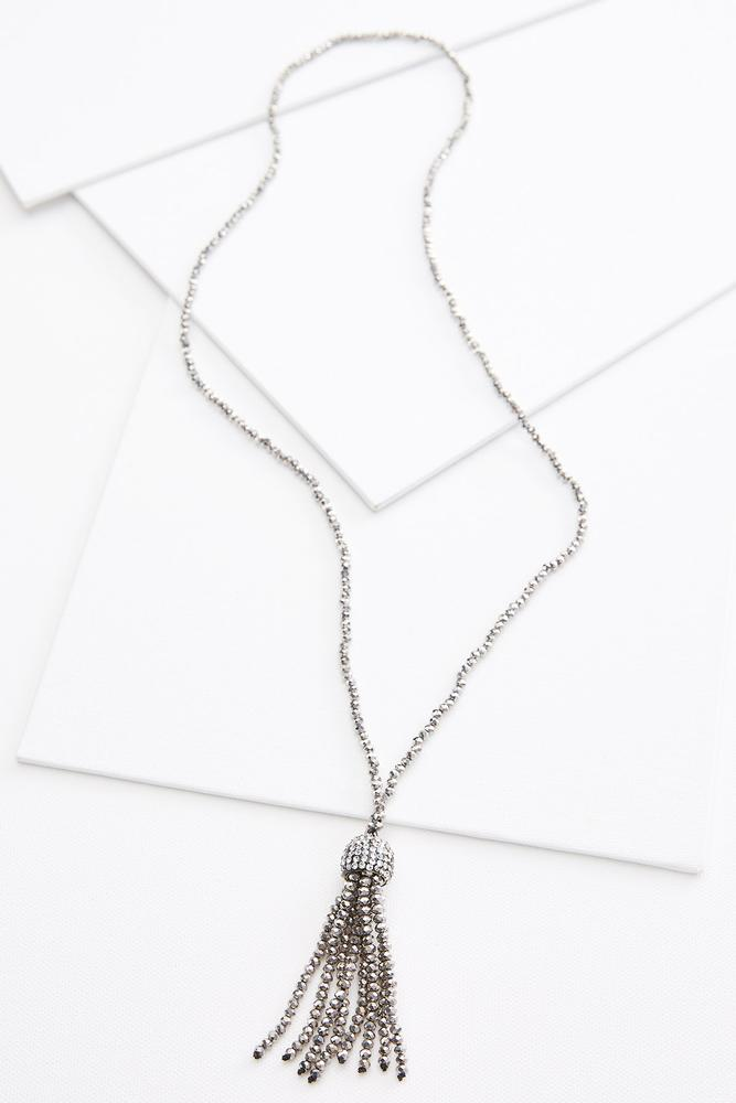 Blingy Tassel Necklace