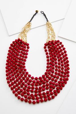 multi layered felt necklace