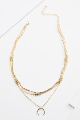 three row layered necklace