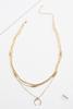 Three Row Layered Necklace