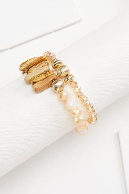 natural statement bracelet set