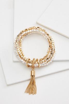beaded metal bracelet