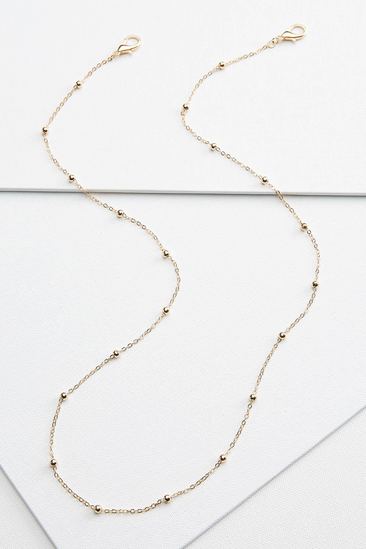 Gold Bead Mask Chain