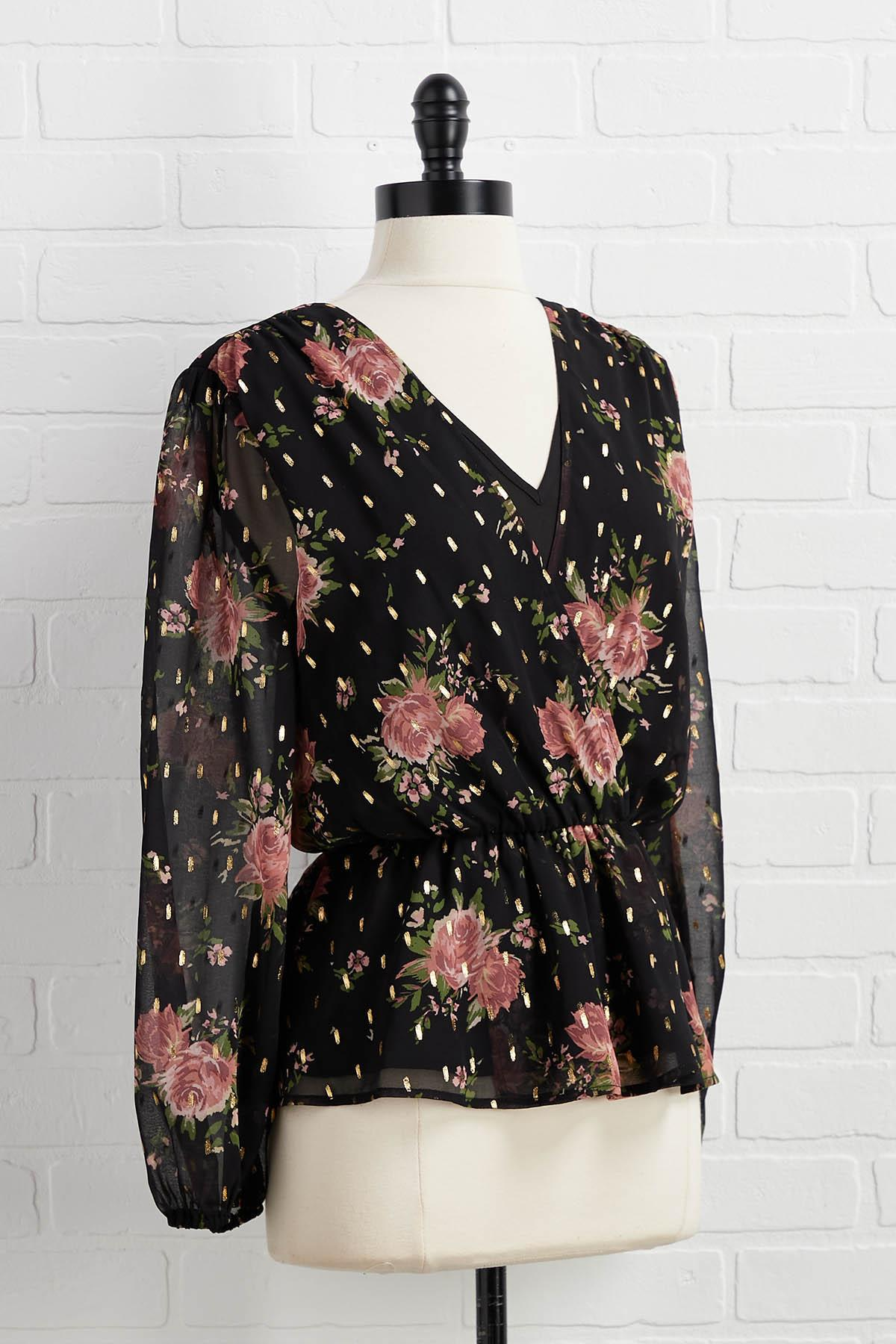 Champagne And Roses Top